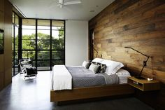 Want! Need! #woodwall #interior #bedroom