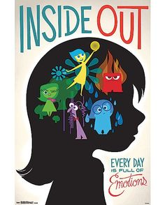 Inside Out Poster - Disney Pixar Disney Pixar, Disney E Dreamworks, Disney Art, Disney 2015, Punk Disney, Disney Villains, Disney Princesses, Disney Characters, Disney Inside Out