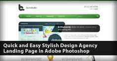 Quick and Easy Stylish Design Agency Landing Page In Adobe Photoshop Photo
