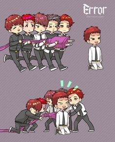 Vixx error fanart, omg this is soo cute!!!