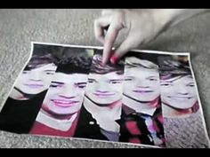 DIY One Direction Bookmarks!! Found on youtube