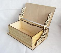 The vector file Laser Cut Engraved Wooden Book Shape Box With Lid CDR File is a Coreldraw cdr ( .cdr ) file type, size is KB, under box vectors. Trotec Laser, Laser Cut Box, Laser Cutting, Wood Cutting, Project Table, Star Night Light, Wood Games, Wooden Books, Cnc Projects