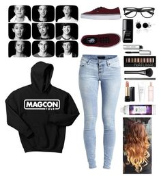 Magcon  by lindseypage on Polyvore featuring polyvore, fashion, style, Object Collectors Item, Vans, Bling Jewelry, Forever 21, Bobbi Brown Cosmetics, Gucci, Lancôme, Victoria's Secret, R+Co, le top and clothing
