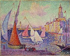 Port of Saint Tropez - Paul Signac .............#GT