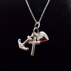 Sterling silver faith hope and charity pendant necklace with choice of chain length by Craftybeadsbysam on Etsy https://www.etsy.com/uk/listing/524291788/sterling-silver-faith-hope-and-charity