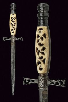 An interesting dagger, provenance: Italy  dimensions: length 27.5 cm.  dating: second quarter of the 19th Century