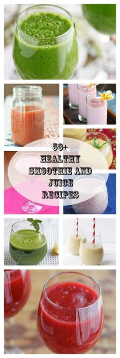 50+ Healthy Smoothie and Juice Recipes for Cleansing and Detox - pin this to save - a great resource to refer to throughout the year ~ Jeanette's Healthy Living