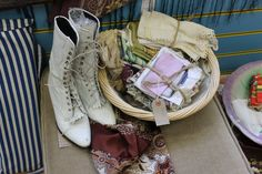 Beautiful bits form our Frome shop, vintage material bundles only £4.50! and amazing vintage cowboy boots £14.99!