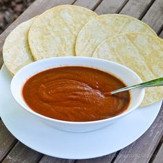 Homemade Enchilada Sauce (Super easy! I used tomato paste instead of tomato sauce.)
