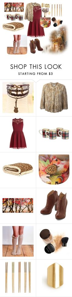 """Feeling like..."" by mssantos ❤ liked on Polyvore featuring Meteo by Yves Salomon, Anuschka, Laura Mercier, Crate and Barrel, DailyLook, H&M, Boots, dress, colors and autumn"