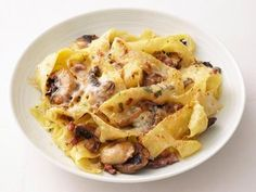 Cheesy Mushroom Pappardelle Recipe | Food Network Kitchen | Food Network