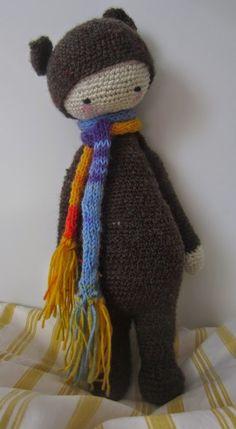 BINA the bear made by Kerstin / crochet pattern by lalylala