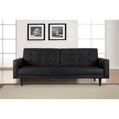 Domus Vita Cagliari Leather Sofa Bed - DC-CGL-S3-B15-BK