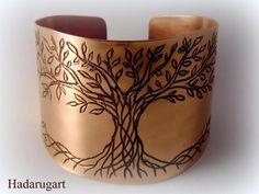 Bratara din cupru cu Pomul Vietii by hadarugart