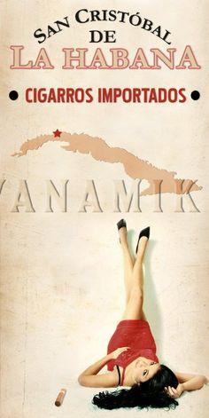 La Habana Cuban Cigar Pinup Girl Poster | pinupartsource