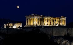 nice acropolis on night Check more at http://www.finewallpapers.eu/pin/25327/