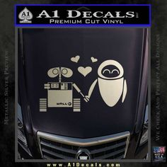 Wall-e and Eve Love Decal Sticker | » A1 Decals