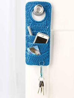 porta chaves Crochet Ganchillo Häkeln