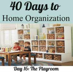 Organizing your playroom (steps by step w/ ideas)