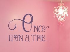 Once Upon A Time Vinyl Wall Decal  Pricess by tweetheartwallart, $22.00