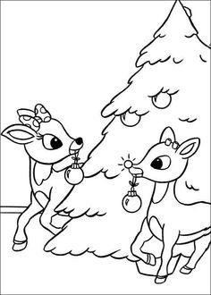 Rudolf med röda mulen Målarbilder 8