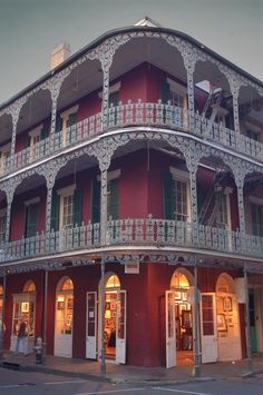 The LaBranche House ~ 700 Royal St. New Orleans LA.  Love the food in the French Quarter, the Riverwalk. & drinks at Pat O'Brian's!
