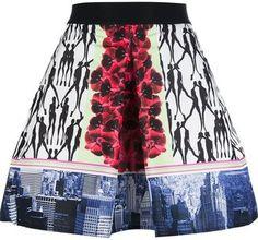 Pinko printed A line skirt Pinko