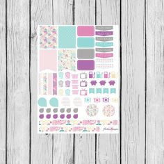 Purple Paisley Monthly Planning Sticker Sheet: Erin Condren, Filofax, Plum Paper, Kikki K