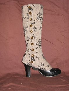 spats boots shoes victorian costume #timetravelcostumes @TimeTravelStyle
