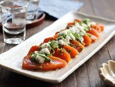 Easy Cooking, Cooking Recipes, Sashimi, Caprese Salad, Japanese Food, No Cook Meals, Deli, Seafood Recipes, Food And Drink