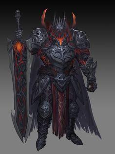 Death Knights of The Iron Throne Fantasy Concept Art, Fantasy Armor, Fantasy Character Design, Dark Fantasy Art, Character Art, Dragon Knight, Knight Art, Dnd Characters, Fantasy Characters