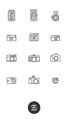 Iconos fotográficos - Angeloletra #icons #illustration #design