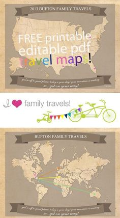 Free Printable Travel Maps