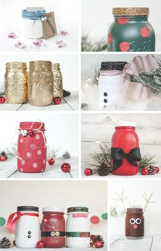Holiday time is near so its time for some holiday mason jar decor! Perfect for gift jars to fill with treats and goodies! Its a holiday mason jar round up.