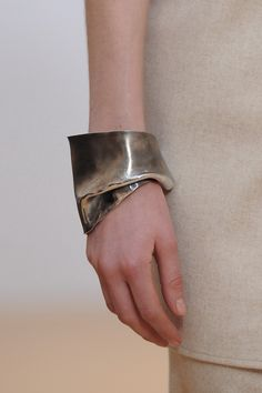 Liquid metal accessories seen at #Nehera yesterday . #PFW #AW15