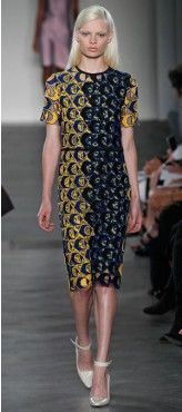 Derek Lam Blue Lace Dress