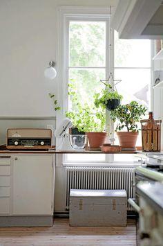Cocina positiva    #cocinas #kitchens  #vintage_kitchen