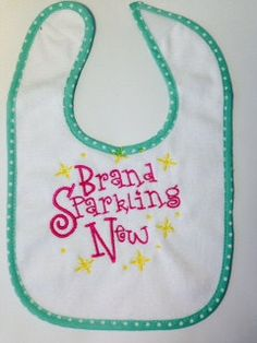 Personalized Girls or Boys Bib by SewCutePatches on Etsy