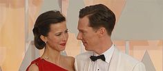 *heart explodes* | Benedict Cumberbatch Asks His Wife The Same Cute Question On Every Red... I really like Sophie!