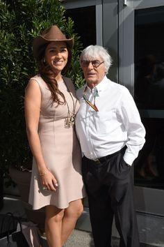 Bernie Ecclestone en echtgenote Fabiana