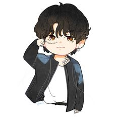 V Chibi, Chibi Girl, Cute Chibi, Anime Chibi, Taehyung Fanart, Bts Taehyung, V Bts Wallpaper, Cute Love Cartoons, Album Bts