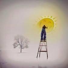 Si no sale el Sol dibújalo, pero haz que tu día brille.