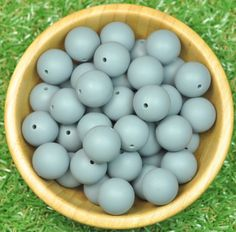 Round 19mm Silicone Bead 10pk - Dim Grey - Silicone Beads Australia™