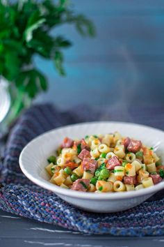 Flavorful and easy to make, this 30-minute One Pot Pasta with Peas and Kielbasa recipe will be loved by everyone.
