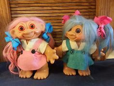 Dam Troll Banks, Girls, Blue and Pink Pair