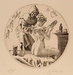 Ex Libris by N. Death and the Maiden. Ex Libris, Dance Of Death, Arte Obscura, Figure Sketching, Occult Art, Danse Macabre, Arte Horror, Art Graphique, Angel Art