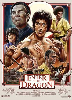 "Bruce Lee, who died shortly before the release of his film ""Enter the Dragon"" was the face of martial arts in pop culture and helped it to gain popularity in the United States. Bruce Lee Movies, Bruce Lee Art, Bruce Lee Quotes, Bruce Lee Poster, Classic Movie Posters, Movie Poster Art, Poster S, Action Movie Poster, Action Films"