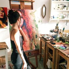 """Painting is mostly daydreaming."" - Charmaine Olivia, artist"