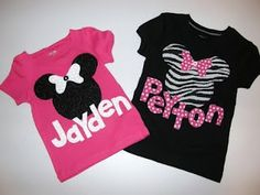 Cute but I would not put names on the shirts