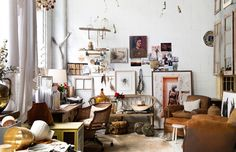 Kara Rosenlund's Brisbane studio, featuring many of her props and ephemera collected on her travels. Photo – Mindi Cooke for The Design Files